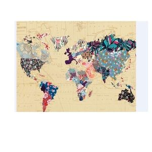 Maps wall tapestry